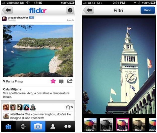 app flickr iphone filtri foto