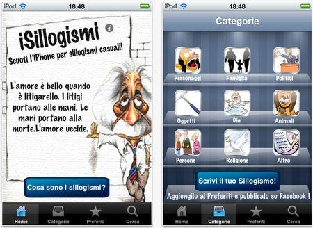 App per iPhone: frasi curiose con iSillogismi