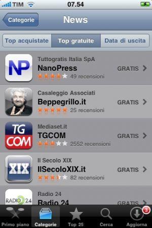 App Nanopress per iPhone record di download