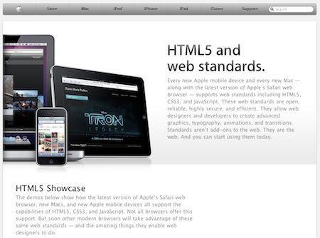 Apple inaugura una sezione del proprio sito web dedicata ad HTML5 e agli standard del web