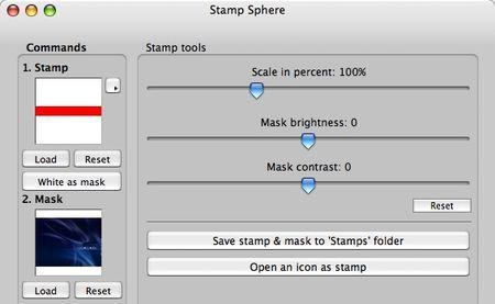 applicare logo foto stamp sphere mac