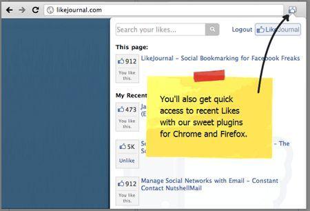 Applicazioni per Facebook: LikeJournal per condividere i Like