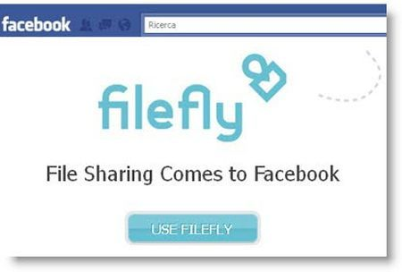Applicazioni per Facebook per condividere file: Filefly