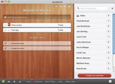 Tra le applicazioni per Mac (e non solo) più scaricate c'è Wunderlist