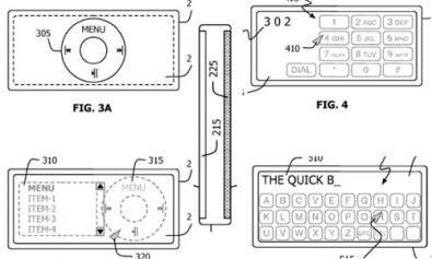 brevetto Apple per apparecchio con doppia superficie sensibile al tatto