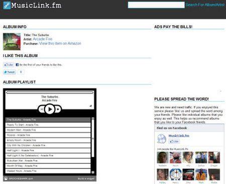 Ascoltare cd musicali per intero con MusicLink