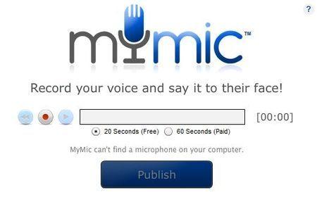 Audio su Facebook: inserire messaggi vocali con MyMic