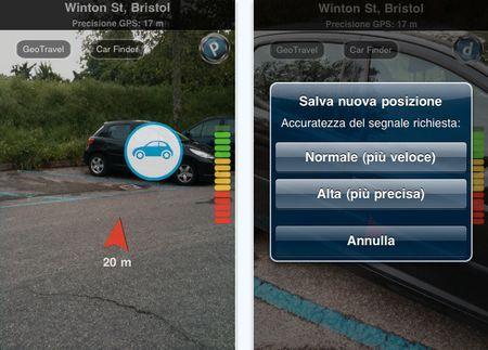 Ritrovare l'auto con Augmented Car Finder per iPhone