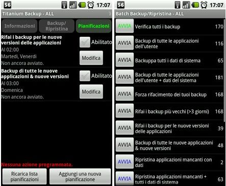 Fare il backup su Android