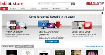 Telecom e Mondadori aprono Biblet Store, negozio online di eBook