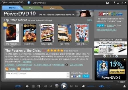 DVD e Blu-ray player: guardare film in alta qualità con CyberLink Power DVD