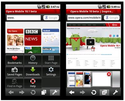 browser android opera