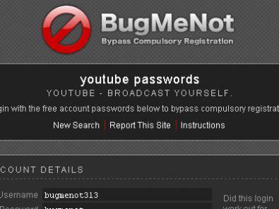 BugMeNot – Come entrare nei siti che richiedono una registrazione senza registrarsi