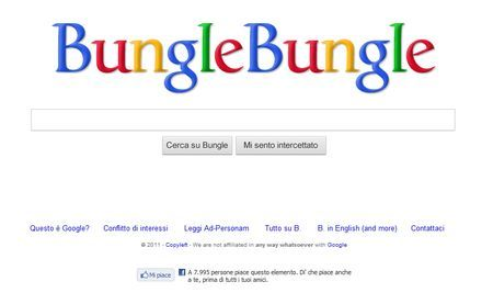 Motore di ricerca in stile Google sul bunga bunga: Bungle Bungle