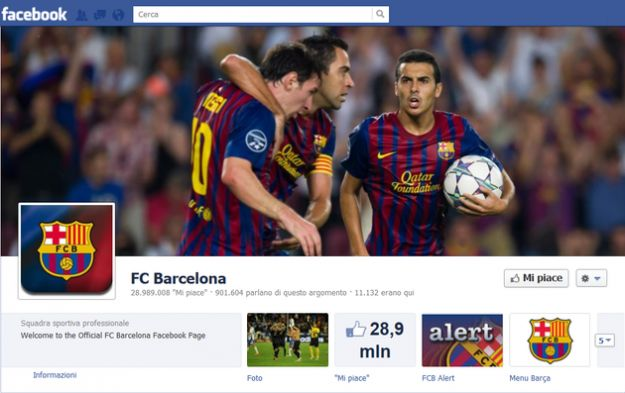 Calcio su Facebook, il Barcellona  la squadra pi tifata sul social network