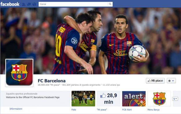calcio facebook barcellona