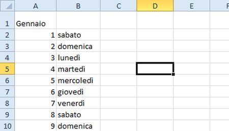 Fare Un Calendario Con Excel.Calendario In Excel Come Crearlo Trackback