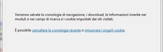 cancellare cronologia cookies firefox