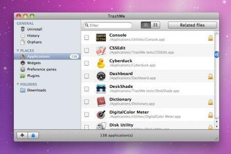 Cancellare files e disinstallare applicazioni su Mac con TrashMe