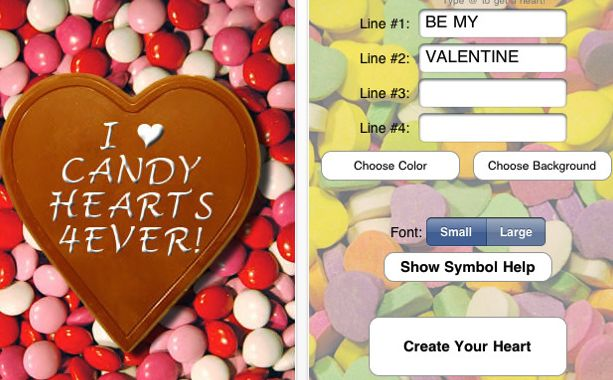 candy hearts iphone