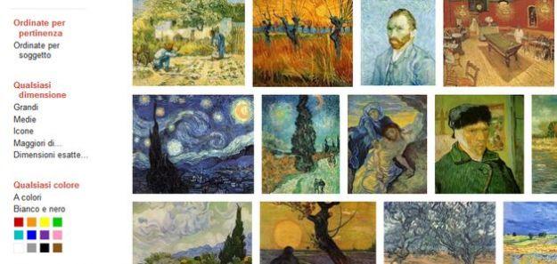 cercare immagini online google personalizzazione