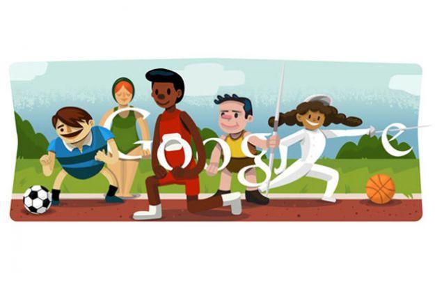 Google Doodle per la Cerimonia d'apertura Olimpiadi 2012