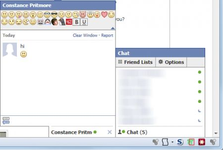 Chat di Facebook: inserire le emoticons con Facebook Chat Emoticons Bar