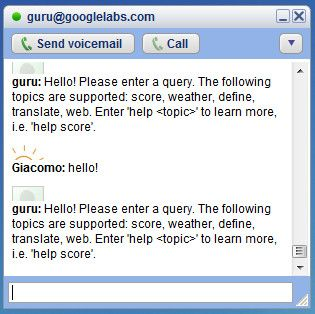 Chat di Google: su GTalk compare il bot Guru