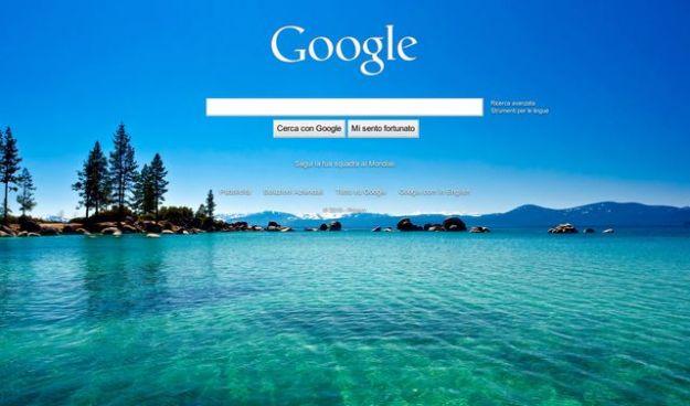 come cambiare lo sfondo di google