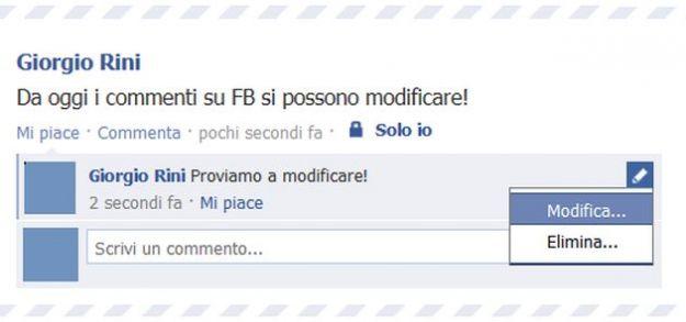 I commenti su Facebook adesso si possono modificare