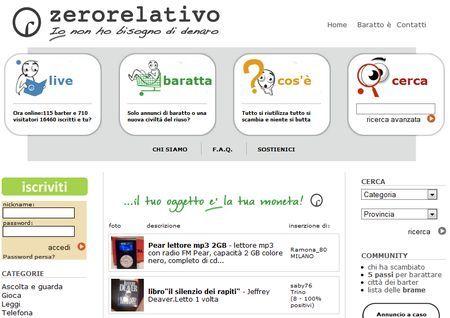 community annunci scambi zerorelativo