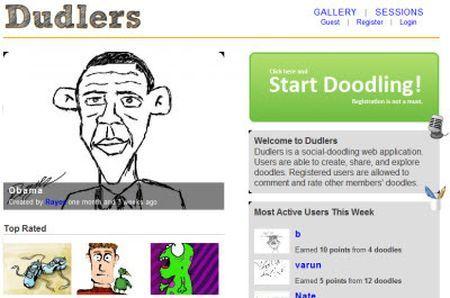 Community per la condivisione di disegni online: Dudlers