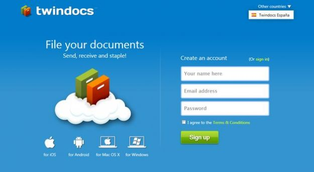 Condividere file gratis con Twindocs da Windows, Mac, iOS e Android