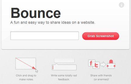 Condividere idee su un sito web con Bounce