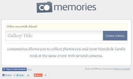 condivisione foto gratis online comemories