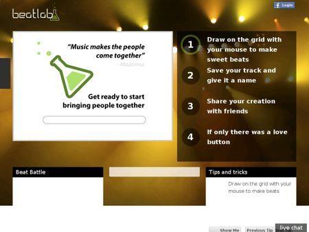 condivisione online composizioni musicali beatlab