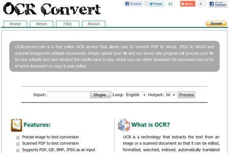 Convertire immagini di scritte in testo con OCRConvert