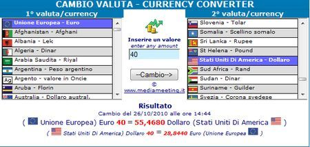 convertitore valuta mediameeting
