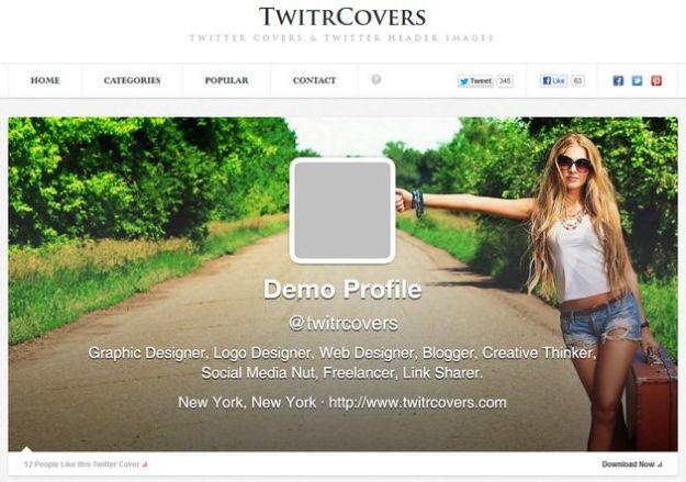 Copertine di Twitter: Twitrcovers, una raccolta di magnifiche immagini per il profilo