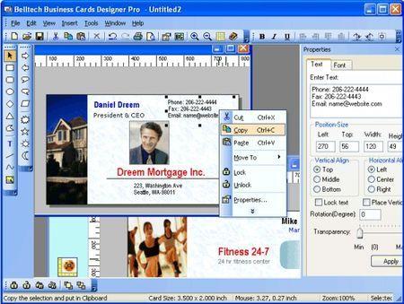 Creare biglietti da visita con Business Card Designer Plus