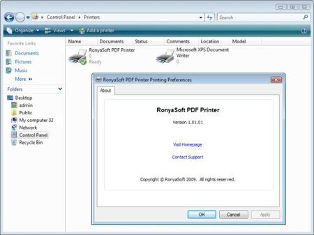 Creare documenti PDF su Windows con RonyaSoft PDF Printer