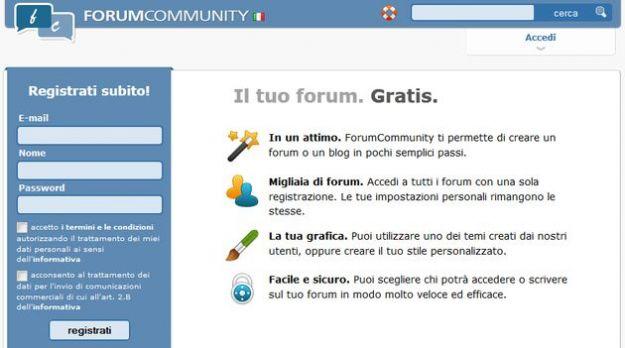 creare forum gratis forumcommunity