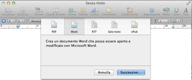 creare pdf mac