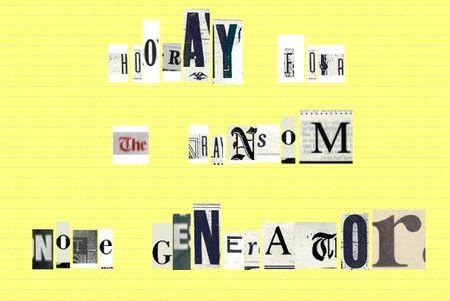 Creare scritte online: Ransom Note Generator con i ritagli di giornali