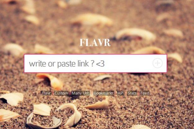 Creare short link gratis online con Flavr
