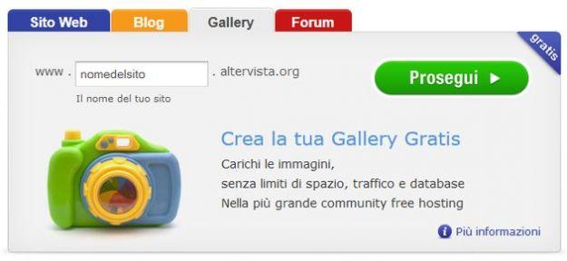 creare sito gratis altervista gallery forum
