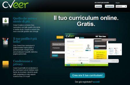 Realizzare e condividere un curriculum con Cveer