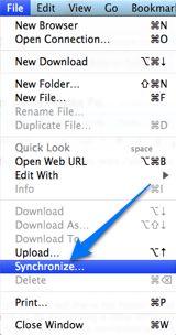 cyberduck sync folders
