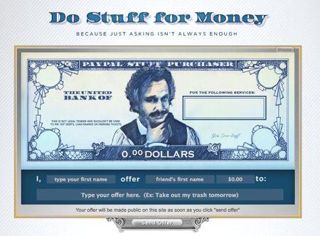 do stuff for money