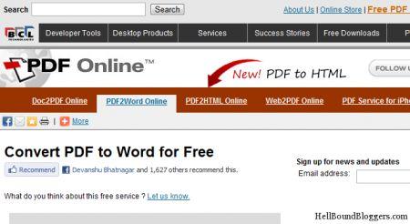 doc to pdf Online